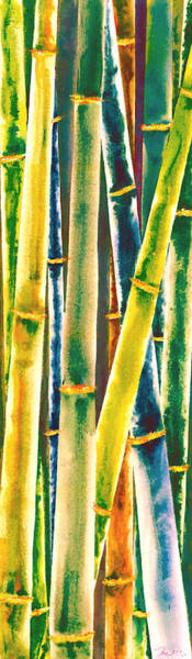 Wall Art - Painting - Multi Colored Bamboo by Rosemary Craig