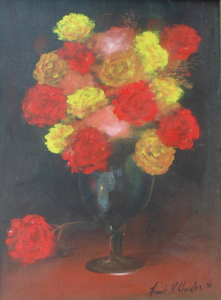 Painting - Multi-colored Roses by Frank Hunter