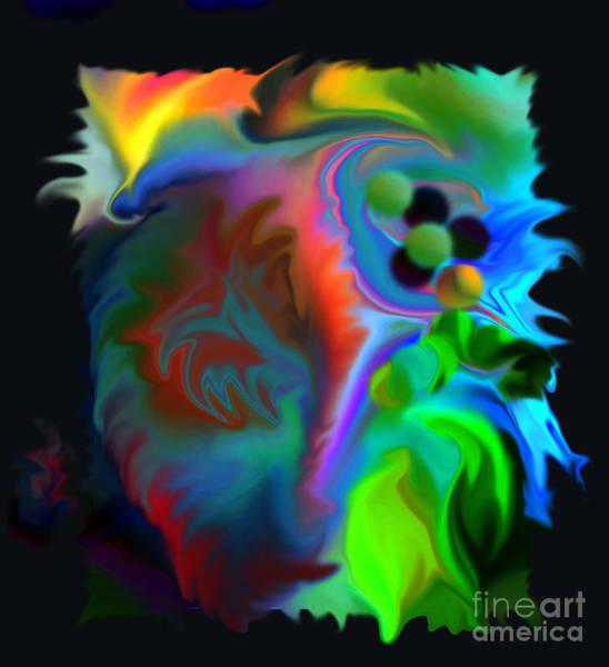 Digital Art - Multi Coloured Rose by Lance Sheridan-Peel