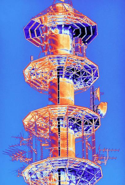 Mast Photograph - Multi-platform Radio Mast For Telecommunications by Alfred Pasieka/science Photo Library