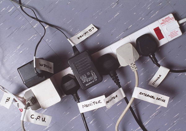 Plug-in Photograph - Multi-way Plug Socket by Gary Parker/science Photo Library