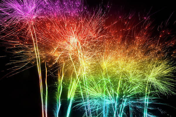 Social Event Photograph - Multicolored Fireworks by Kamisoka