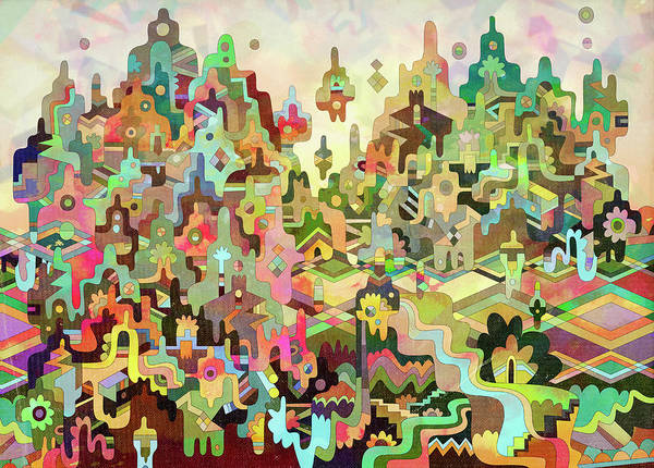 Exuberance Photograph - Multicolored Psychedelic Abstract by Ikon Ikon Images