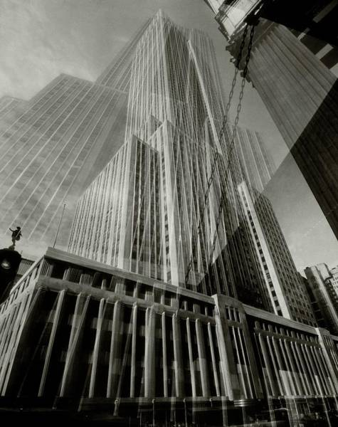 Window Photograph - Multiple Exposure Of The Empire State Building by Edward Steichen