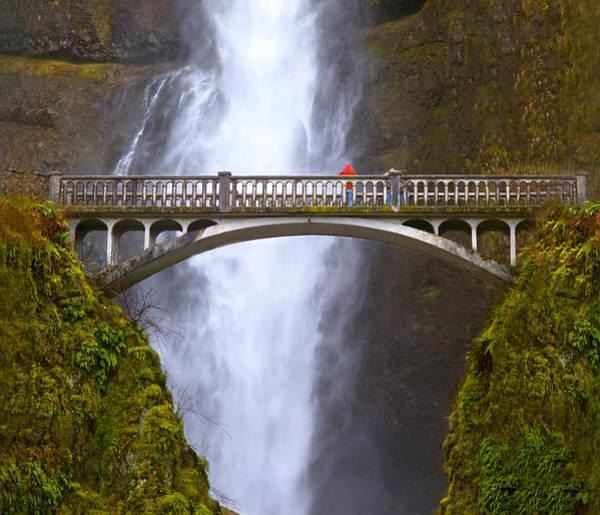 Photograph - Multnomah Falls Bridge In Oregon by Ginger Wakem