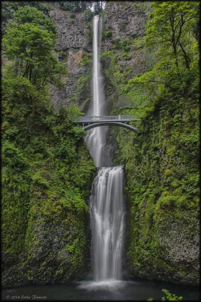 Photograph - Multnomah Falls by Erika Fawcett