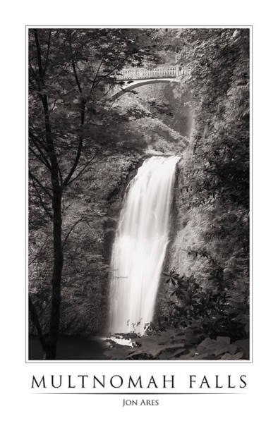 Photograph - Multnomah Falls Poster by Jon Ares
