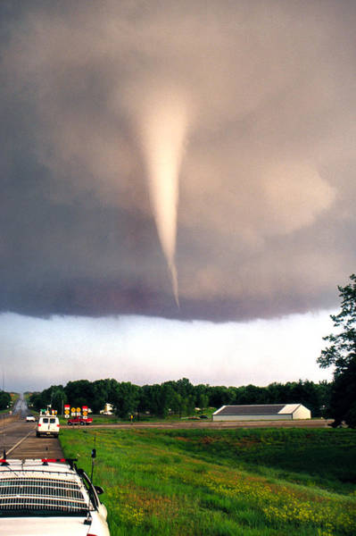Photograph - Mulvane Tornado With Storm Chasers by Jason Politte