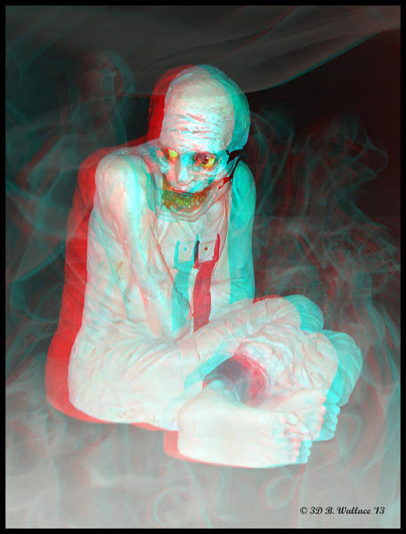 Anaglyph Photograph - Mummy Dearest - Use Red-cyan Filtered 3d Glasses by Brian Wallace