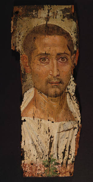 Mummy Drawing - Mummy Portrait Of A Bearded Man Unknown Egypt by Litz Collection