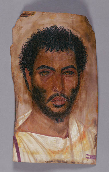 Mummy Drawing - Mummy Portrait Of A Bearded Man Unknown Er-rubayat Probably by Litz Collection