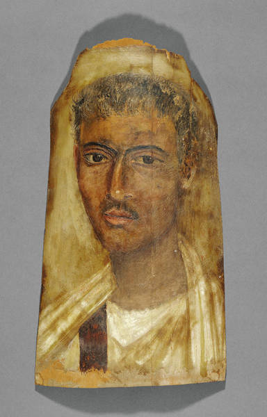 Mummy Drawing - Mummy Portrait Of A Man Unknown Fayum, Egypt by Litz Collection