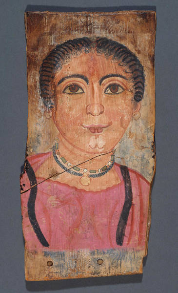 Mummy Drawing - Mummy Portrait Of A Woman Unknown Er-rubayat by Litz Collection