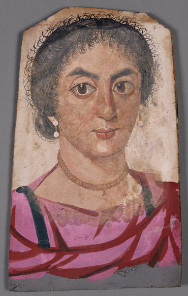 Mummy Drawing - Mummy Portrait Of A Young Woman Unknown Er-rubayat by Litz Collection