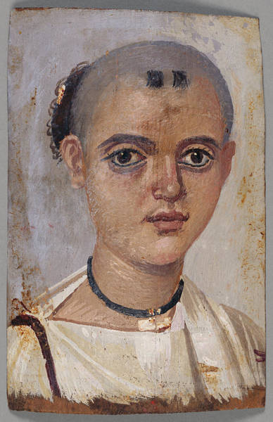 Mummy Drawing - Mummy Portrait Of A Youth Unknown Egypt by Litz Collection
