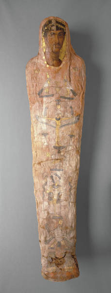 Mummy Drawing - Mummy With Cartonnage And Portrait Unknown El Hibeh Perhaps by Litz Collection
