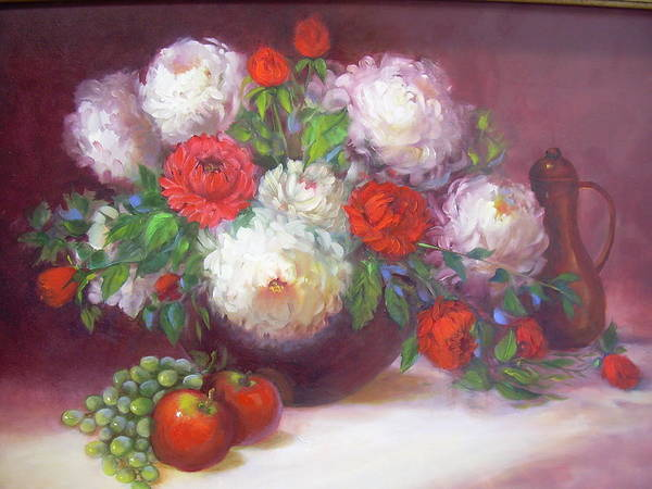 Painting - Mums For Mom by Naomi Dixon