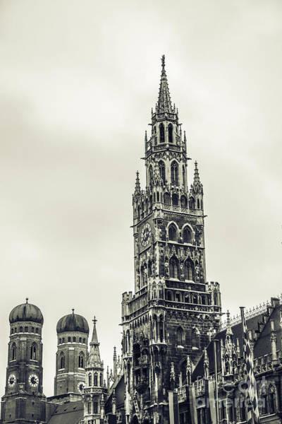Rathaus Photograph - Munich - Ancient by Hannes Cmarits