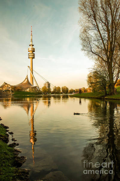 Photograph - Munich - Olympiapark - Vintage by Hannes Cmarits