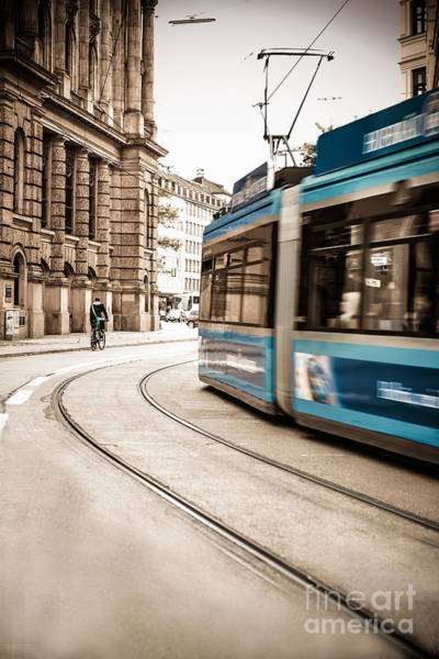 Munich City Traffic Art Print