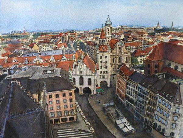 Munich Painting - Munich II by Henrieta Maneva