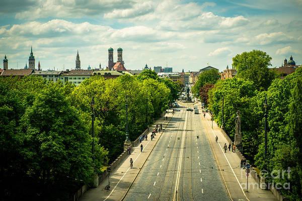 Photograph - Munich - Maximiliansbruecke by Hannes Cmarits