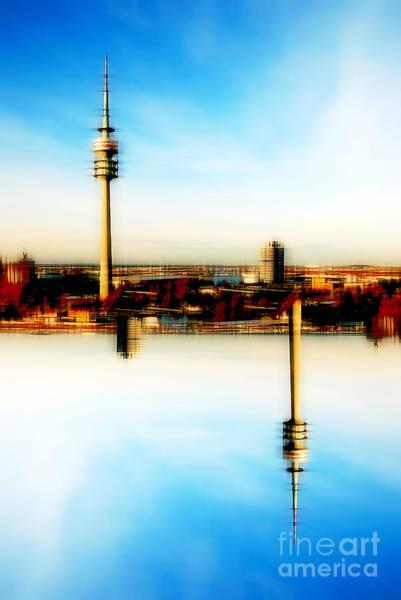 Photograph - Munich - Olympiaturm by Hannes Cmarits