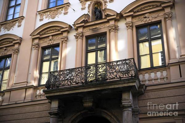 Photograph - Munich Wrought Iron Balcony by John Rizzuto
