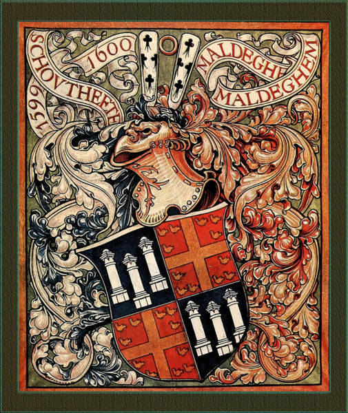 Digital Art - Municipality Of Maldegem Belgium Medieval Coat Of Arms by Serge Averbukh