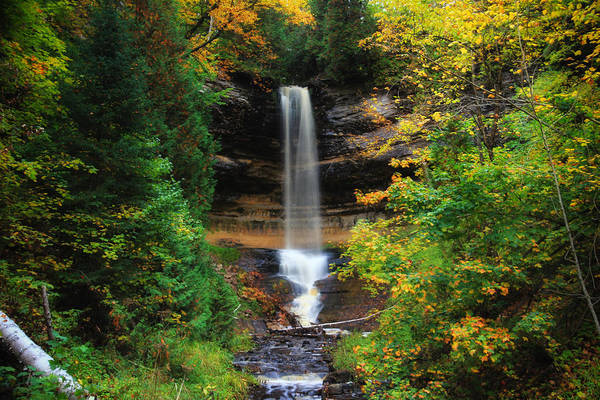 Photograph - Munising Falls In October by Rachel Cohen