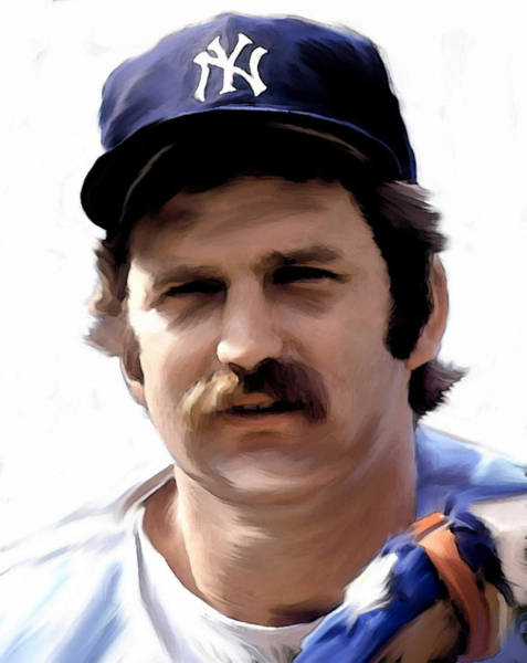 Painting - Munson Thurman Munson  by Iconic Images Art Gallery David Pucciarelli