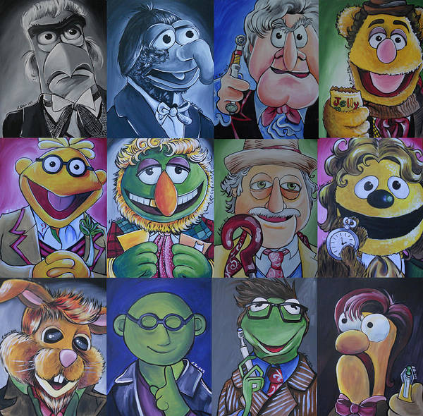 Bbc Painting - Muppet Doctor Who Mash-up Updated by Lisa Leeman