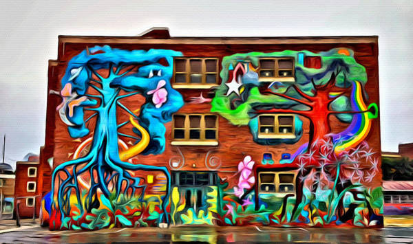 Photograph - Mural On School by Alice Gipson