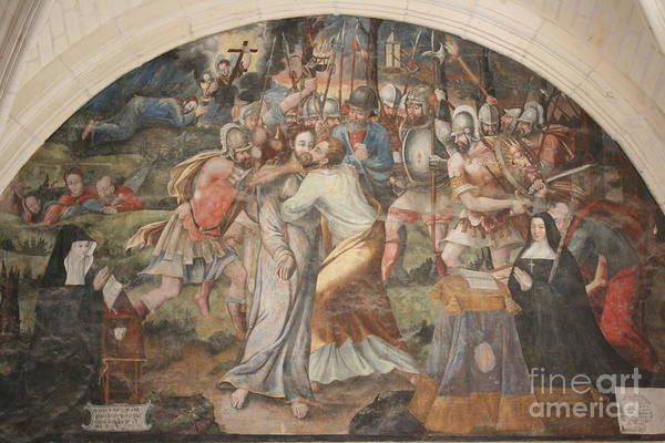 Fontevraud Photograph - Mural Painting Abbey Fontevraud by Christiane Schulze Art And Photography