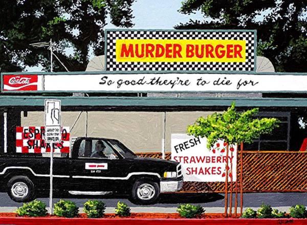 Murder Burger Art Print by Paul Guyer