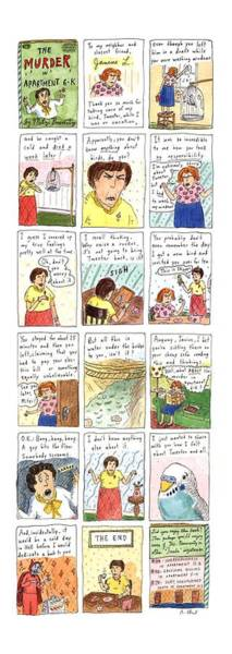 Wall Art - Drawing - Murder In Apartment 6-k by Roz Chast