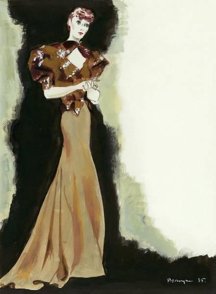 Dress Digital Art - Muriel By Jean Patou by Pierre Mourgue