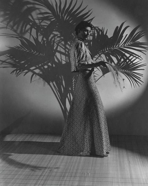 Photograph - Muriel King Wearing A Dress And Jacket by John Rawlings
