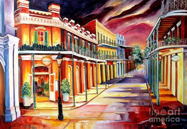Wall Art - Painting - Muriel's In The French Quarter by Diane Millsap