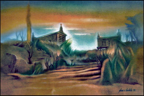 Painting - Muros Rice Storage B 1982 by Glenn Bautista