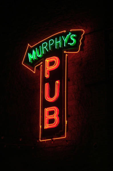 Photograph - Murphy's Pub - Neon Sign by HW Kateley
