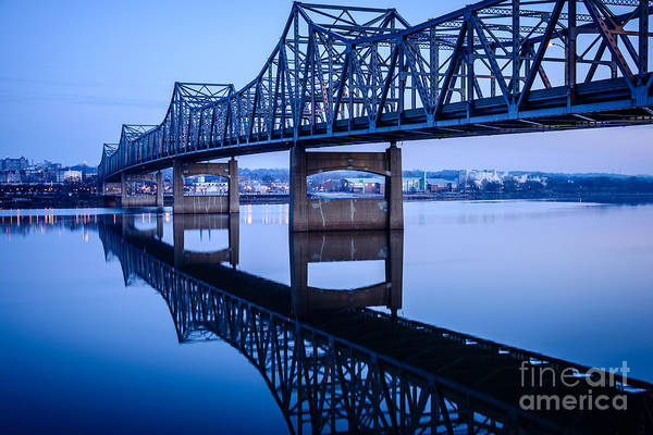 American Steel Photograph - Murray Baker Bridge In Peoria Illinois by Paul Velgos