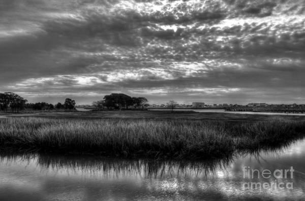 Photograph - Murrells Inlet Morning 3 Bw by Mel Steinhauer