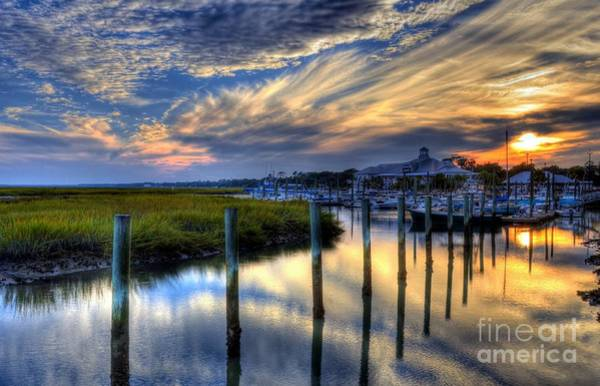 Inlet Photograph - Murrells Inlet Sunset 1 by Mel Steinhauer
