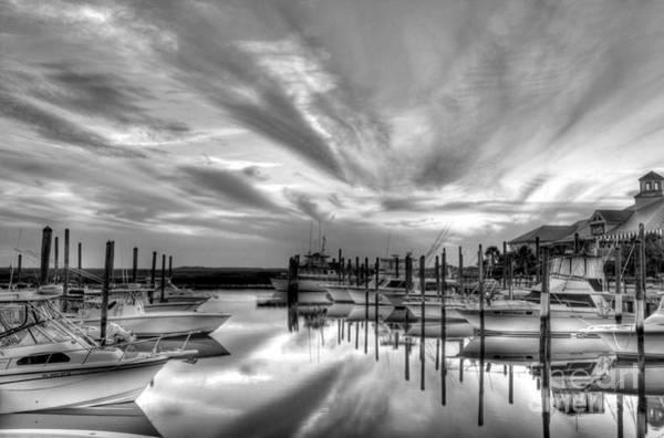 Photograph - Murrells Inlet Sunset 2 Bw by Mel Steinhauer