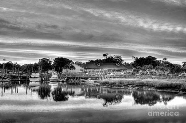 Photograph - Murrells Inlet Sunset 3 Bw by Mel Steinhauer