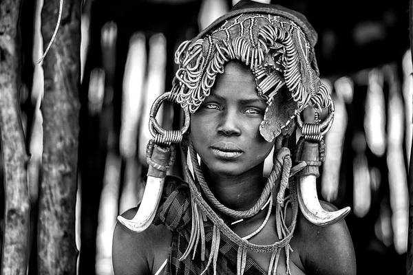 Native Photograph - Mursi by Vedran Vidak