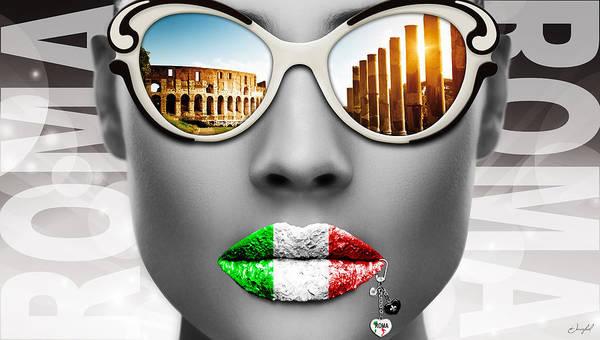 Lip Piercing Wall Art - Digital Art - Musa Roma by Jan Raphael