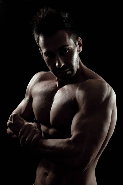 Human Limb Photograph - Muscular Young Bodybuilder by Leopatrizi