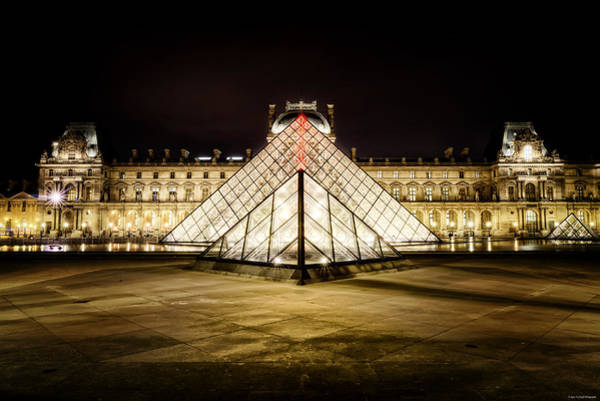 Photograph - Musee Du Louvre by Ryan Wyckoff